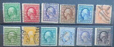 USED 1908 FULL SET 12 DLW Perf 12 to $1 - #331-#342 1c-$1  Very Nice & CLEAN Set