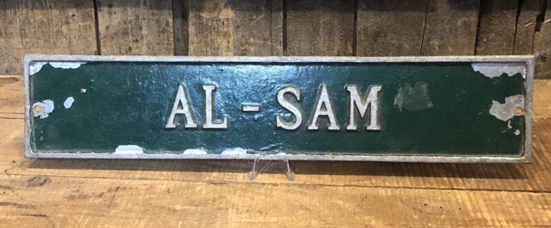 Vintage 1950's Original AL-SAM Racing Horse Stable Name Sign