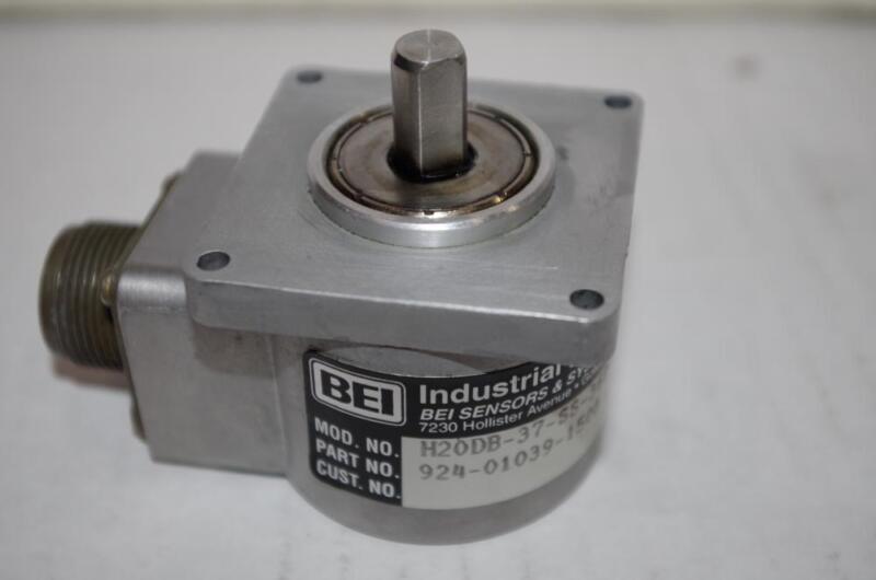 BEI INDUSTRIAL ENCODER P/N H20DB-37-SS-360-AB-3904R-SM14-12V-S   360 COUNTS/REV