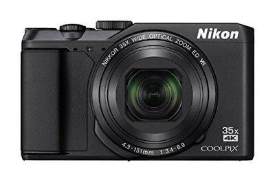 Nikon COOLPIX A900 Wi-Fi 20MP 4K Digital Camera Japan Model New Black