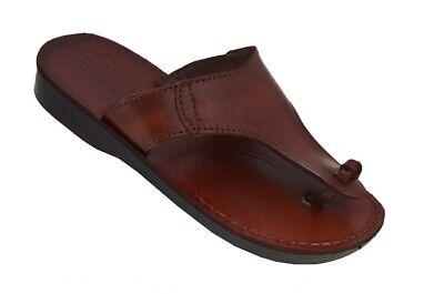 Unisex Biblical Jerusalem Jesus Sandals Flip Flops Handmade Natural Leather