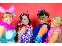 Professional style photo shoot for your Photo Booth,with high quality images printed on the night.