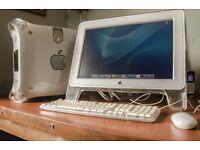 "Apple Mac G4 Power PC and 24"" Apple Cinema display"