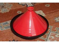 Victor Tagine with cast iron base with ceramic lid 25cm diameter - used in fair condition