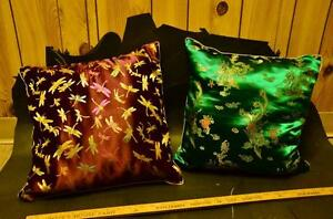 Silk pillows from China Strathcona County Edmonton Area image 1