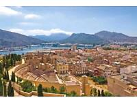 Flights to Murcia: 14-21 May. 2 adult and 1 baby w/ 2 checked bags