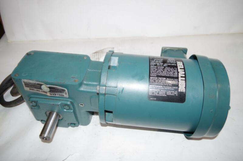 RELIANCE ELECTRIC 1/2HP AC MOTOR & SPEED REDUCER # P56H5069M DODGE 30:1 RATIO