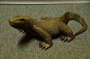 Carved teak wood lizard/Komodo dragon from Indonesia