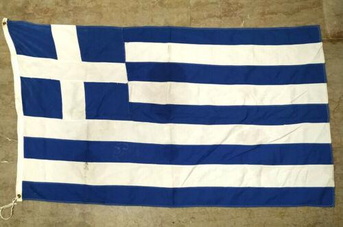Greece Vintage Greek Cotton Flag 127x73cm Made by Elias Coconis