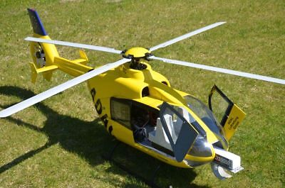 Eurocopter Ec 135 Tipo ADAC Vario Escala Helicóptero Con Piloto Automático