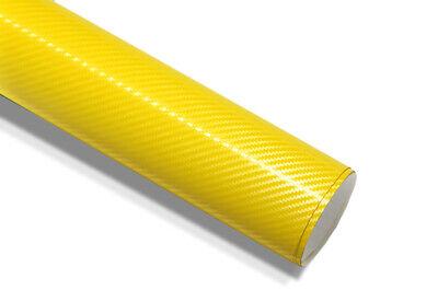 Gelb 3D Carbonfolie Autofolie & Luftkanäle 152 cm x 100 cm