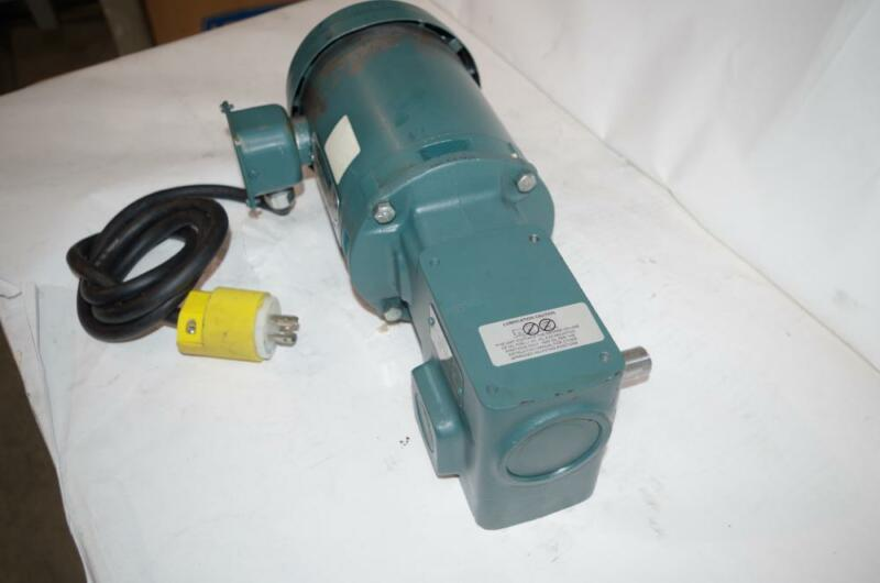 RELIANCE ELECTRIC 1/2HP AC MOTOR & SPEED REDUCER # P56H5069MQL DODGE 20:1 RATIO