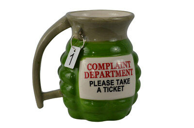 Funny Novelty Grenade Ceramic Coffee Tea Mug Prank Gun Military Party Gag -