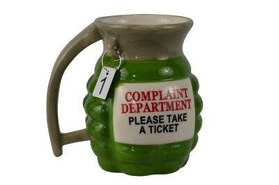 Funny Novelty Grenade Ceramic Coffee Tea Mug Prank Gun Milit