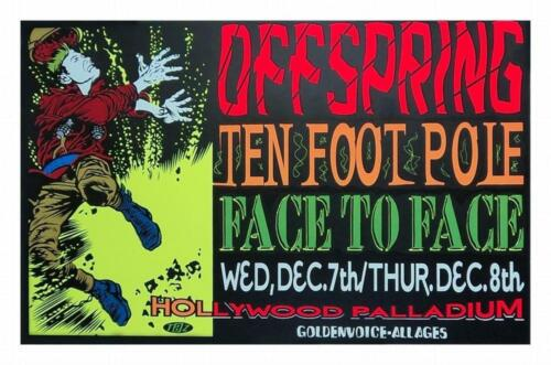 TAZ - 1994 - The Offspring Concert Poster Face to Face Ten Foot Pole Hollywood