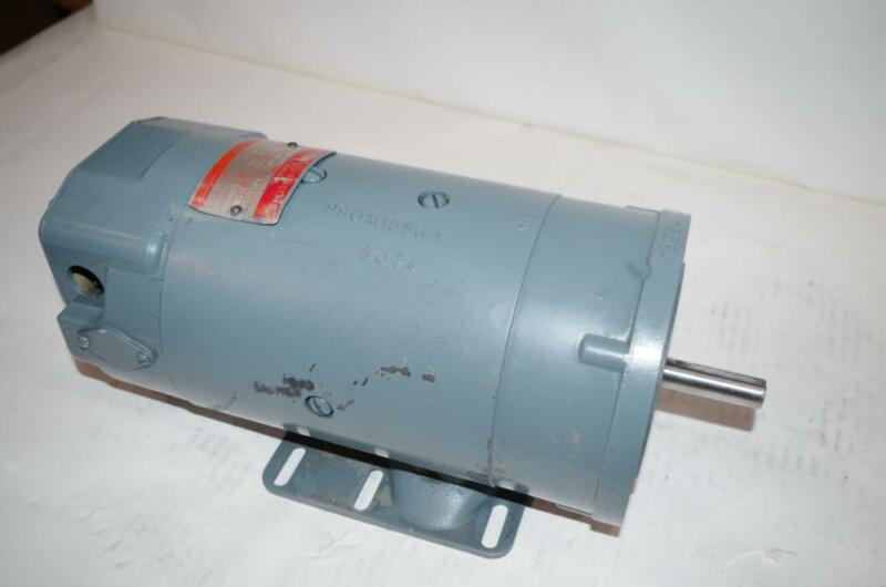GENERAL ELECTRIC SHUNT WOUND 1HP DC MOTOR  # 5BCD56RB390  180A./190F.  3450RPM