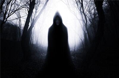 Halloween Background Ghost (Halloween Dark Forest Knight Ghost Vinyl Photography Backdrop Photo Background)