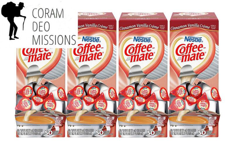 Nestle Coffee-mate Coffee Creamer, Cinnamon Vanilla Creme - 200 ct.