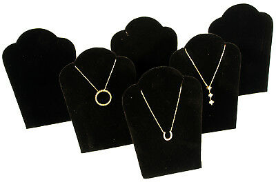 6 Black Velvet Pendant Necklace Jewelry Display 5