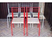 Set of 5 Vintage John Lewis Ingrid Metal Kitchen Chairs