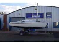 Freedom 21 Foot Sail Boat/Yacht. With Trailer & New Sails. Collection in Berwick.