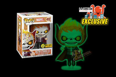 2018 LACC LA Comic Con Dr Strange Ghost Rider GITD Glow In The Dark Funko POP!