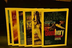 Collection of National Geographic magazines