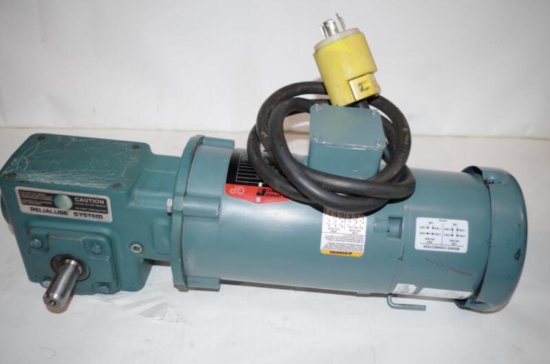 RELIANCE ELECTRIC 0.75HP AC MOTOR SPEED REDUCER & BRAKE #P56H7213  208-230/460V