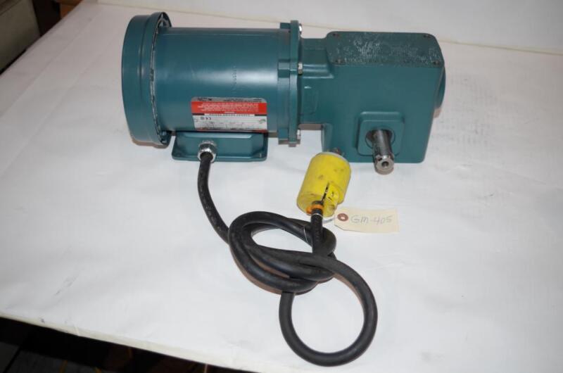 RELIANCE ELECTRIC 1/2HP AC MOTOR & SPEED REDUCER # P56H5069u TIGEAR 50:1 RATIO
