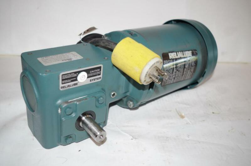 RELIANCE ELECTRIC 1/2HP AC MOTOR & SPEED REDUCER # P56H5069MQL DODGE 30:1 RATIO