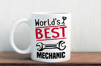 World's best mechanic mug, great gift for a