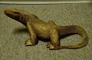 Carved teak wood lizard/Komodo dragon from Indonesia Strathcona County Edmonton Area image 2