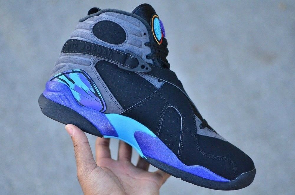 27a1bbfdd184 Authentic Nike Air Jordan 8 Retro - AQUA - Brand New - UK Mens Size 9 -  Basketball Trainers