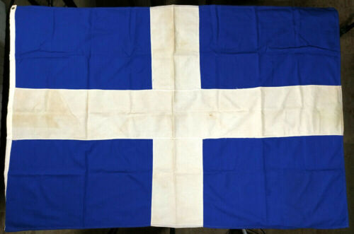 Greece Vintage Greek Cotton Flag 147x96.5cm Made by Elias Coconis
