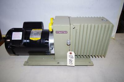Pfeiffer Du0-012a Vacuum Pump 34hp Baldor Motor 115-208230vac 1ph. Vp600