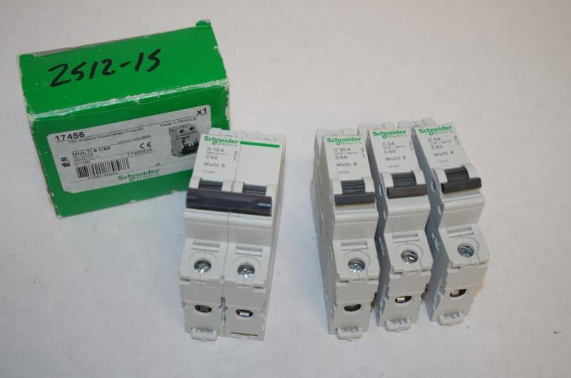 SCHNEIDER ELECTRIC CIRCUIT BREAKERS  C60 MULTI-9   ( SALE IS FOR 4EA.)