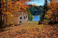 Cottages for Rent on Baptiste Lake - Thanksgiving Log Weekend
