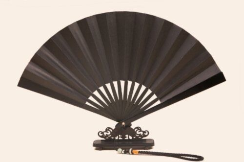 Tessen Iron Ribbed Fans Japanese Fan Stainless self-defense With Tracking