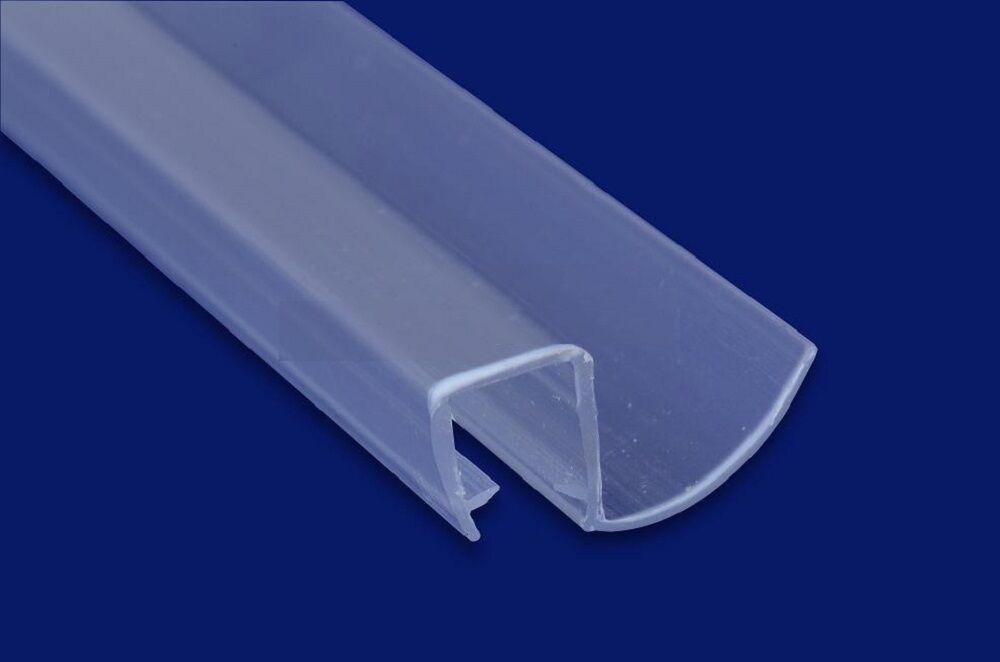 Bath Screen Seal Pivot Hinged Shower Door Strip Fits 8mm