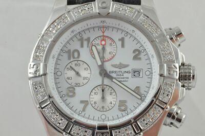 Breitling Super Avenger Automatic A13370 Diamonds Bezel 2,5CT Papiere