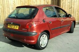 image for Cheap Peugeot 206 SERVICE HISTORY 2.0 Hdi £30 Tax (HONDA FIESTA ASTRA GOLF CLIO)