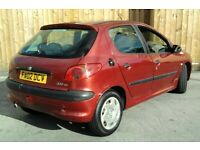 Cheap Peugeot 206 SERVICE HISTORY 2.0 Hdi £30 Tax (HONDA FIESTA ASTRA GOLF CLIO)