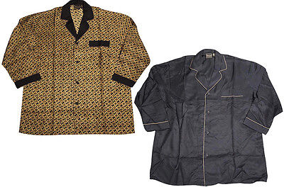 Personalized Mens Pajamas (Mens Personal Choice Long Sleeve Silk Lounge Sleep Pajama)