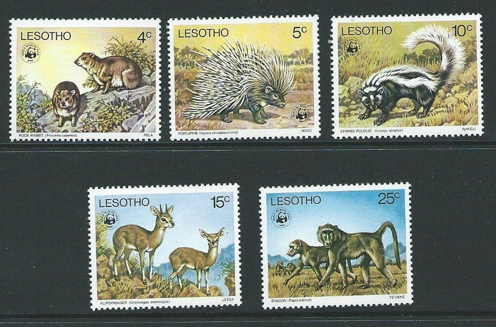 LESOTHO SG329/33 1977 ENDANGERED SPECIES MNH
