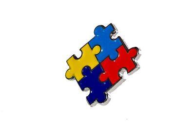 Blue Puzzle Piece Pin (Autism Awareness Heart Puzzle Pieces Lapel Hat Pins Raise Awareness Single)