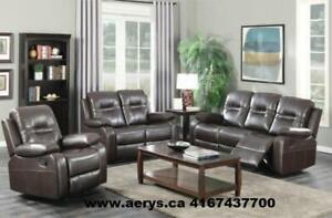 3PCS RECLINER SOFA SET FOR $899 ON HUGE SALE!!416-743-7700!! sectional starts from $295!!  FAMILY DAY SPECIAL SALE !!!