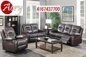 BRAND NEW 3 PCs. SOFA SET WITH 5 RECLINERS FOR JUST 899$ Call: 416-743-7700