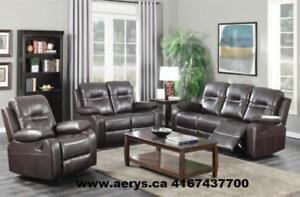 BRAND NEW 3 PCS. RECLINER SOFA SET ON HUGE SALE FOR $879 ONLY!!!!! (SOFA +LOVE SEAT+CHAIR) CALL 4167437700