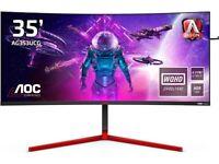 AOC AGON Gaming AG353UCG - 35 Inch WQHD Curved Monitor, 200Hz, 2 ms