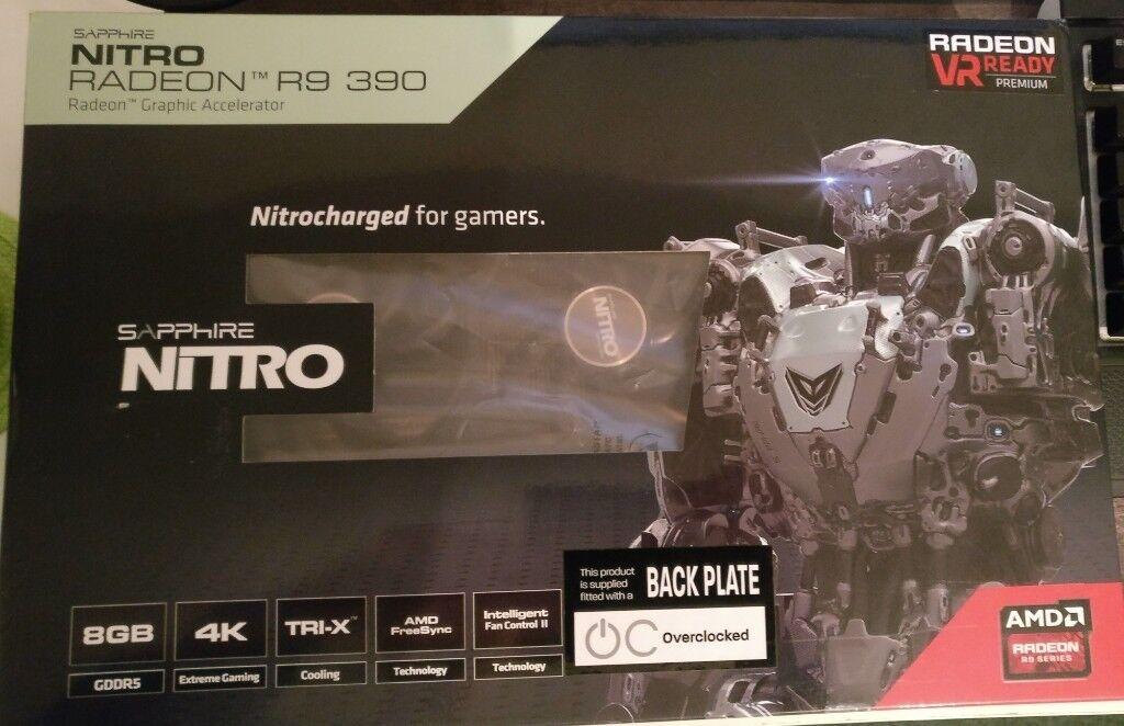 AMD Sapphire Nitro R9 390 8GB back plate | in Winson Green, West Midlands |  Gumtree